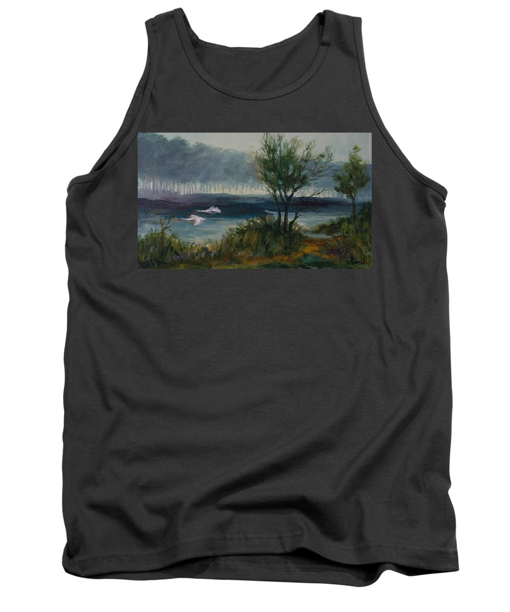 Water Tank Top featuring the painting The River by Rick Nederlof
