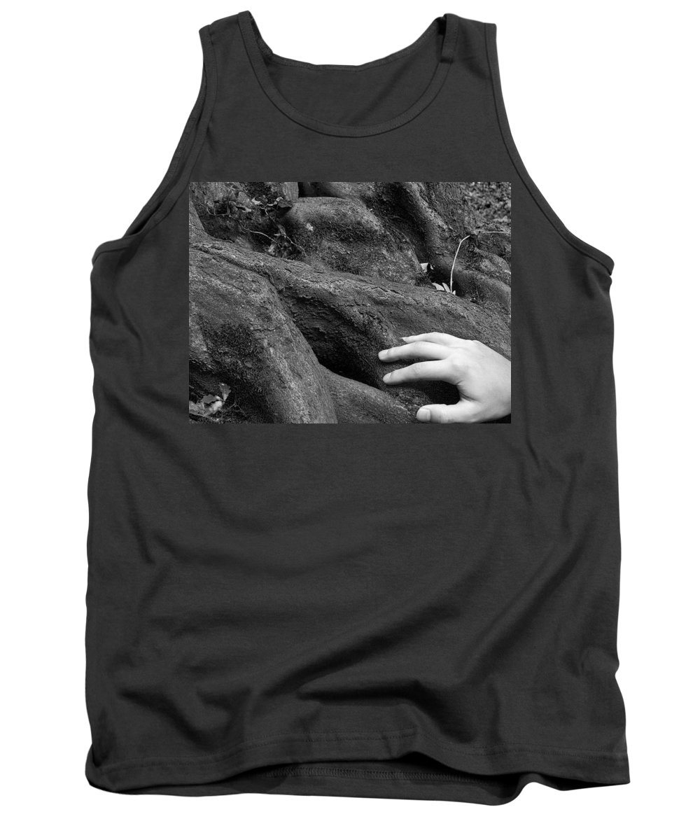 Nature Tank Top featuring the photograph The Roots by Daniel Csoka