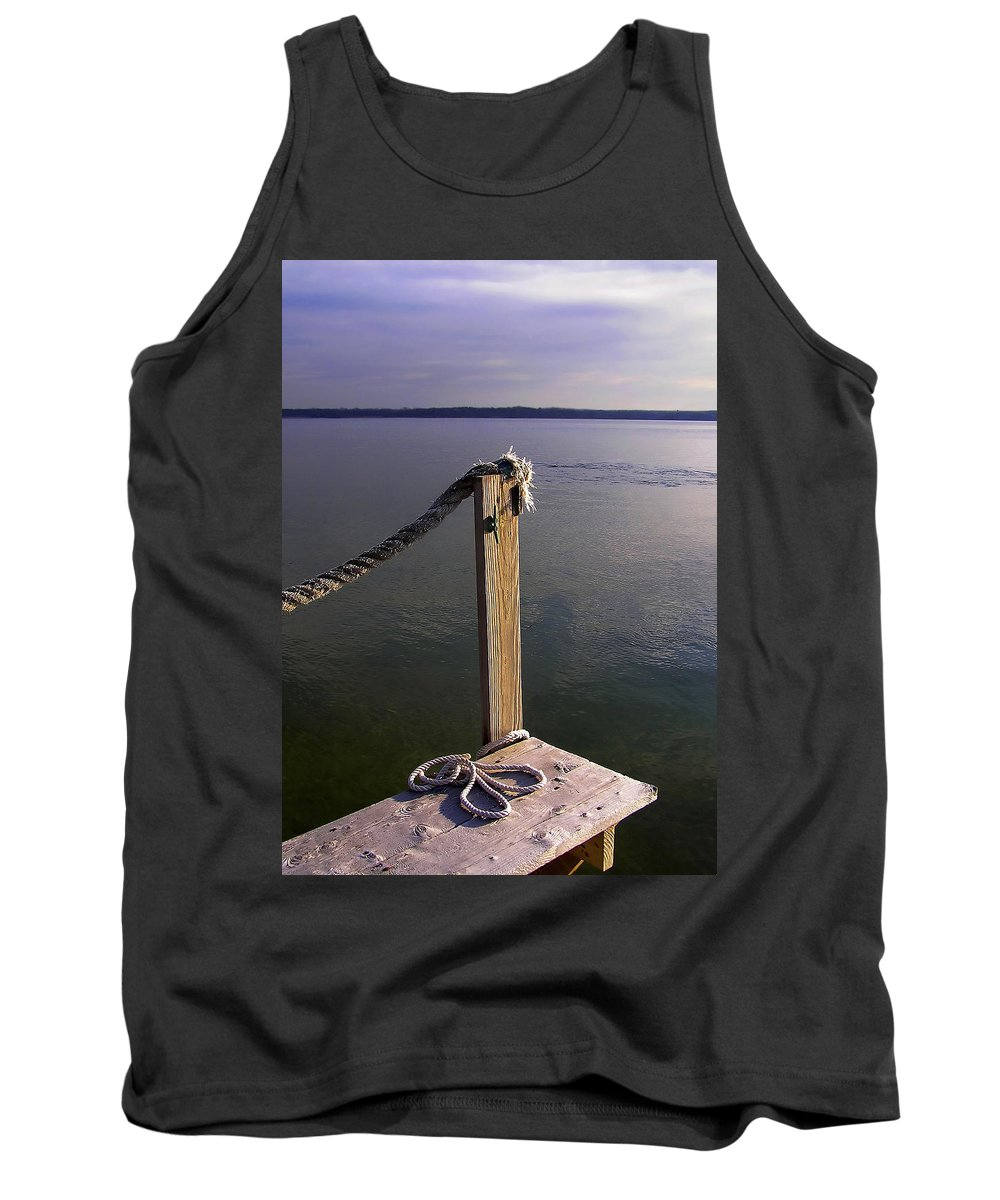 Rope Tank Top featuring the photograph The Ropewalk by Charles Harden
