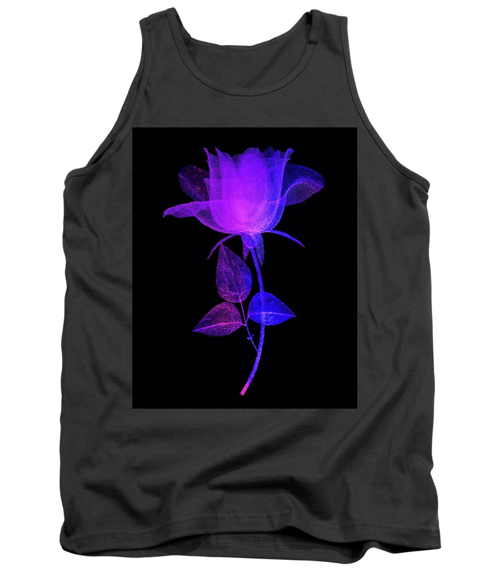 Rose Tank Top featuring the photograph The Rose by Eleanor Bortnick