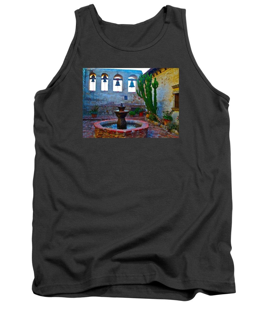 Sacred Tank Top featuring the photograph The Sacred Garden Of Mission San Juan Capistrano California by Karon Melillo DeVega