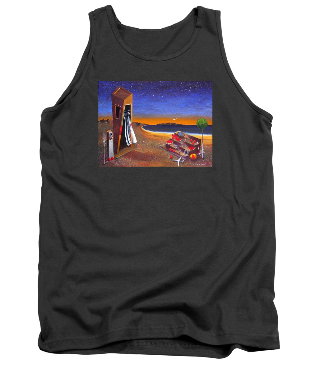 Landscape Tank Top featuring the painting The School Of Metaphysical Thought by Dimitris Milionis