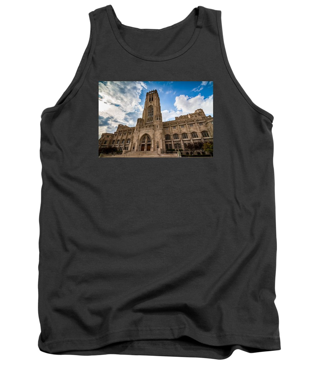 Indiana Tank Top featuring the photograph The Scottish Rite Cathedral - Indianapolis by Ron Pate