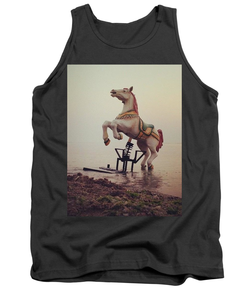 Horse Tank Top featuring the photograph The Sea Horse by Popa Constantin