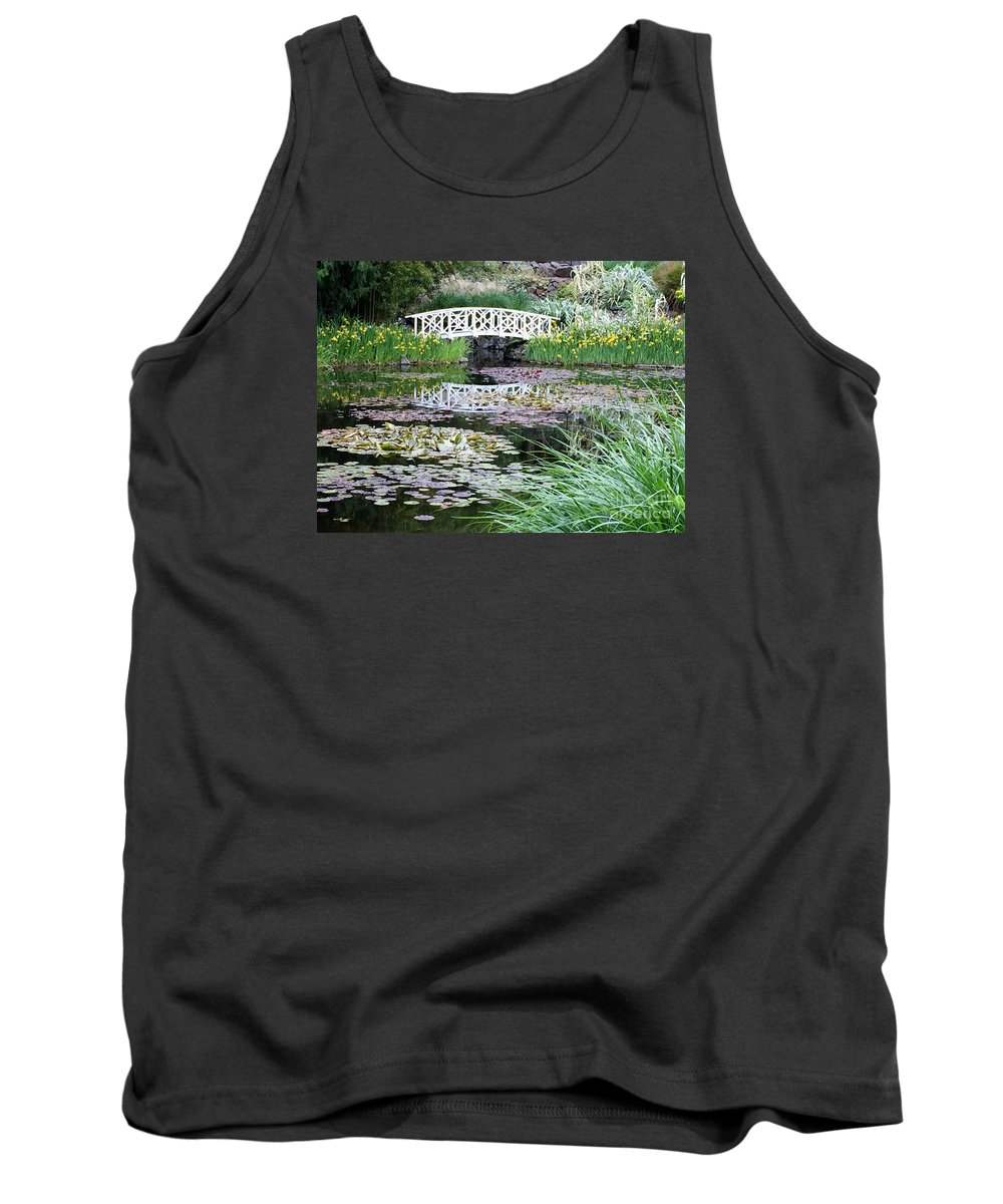 Leaves Tank Top featuring the photograph The Secret Garden Of My Soul by Kiki Pinkepank