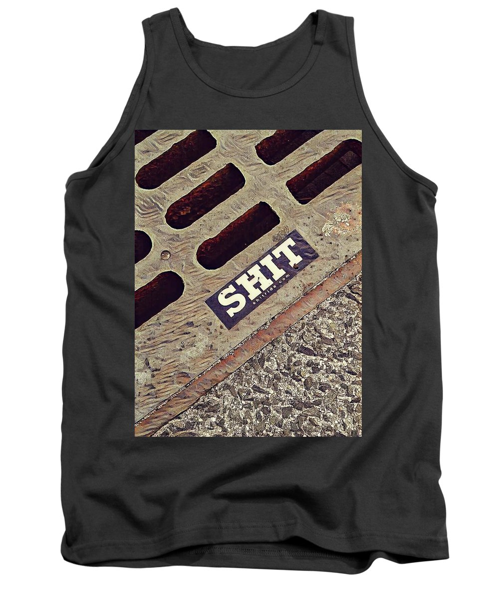 Drain Tank Top featuring the photograph The Shit You See In New York City by Bruce Carpenter