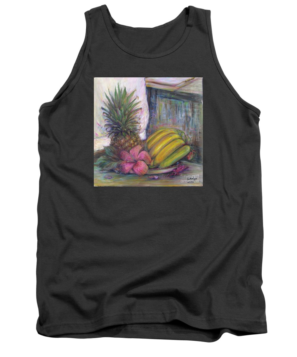 Still Life Tank Top featuring the painting The Smell Of South East Asia by Sukalya Chearanantana