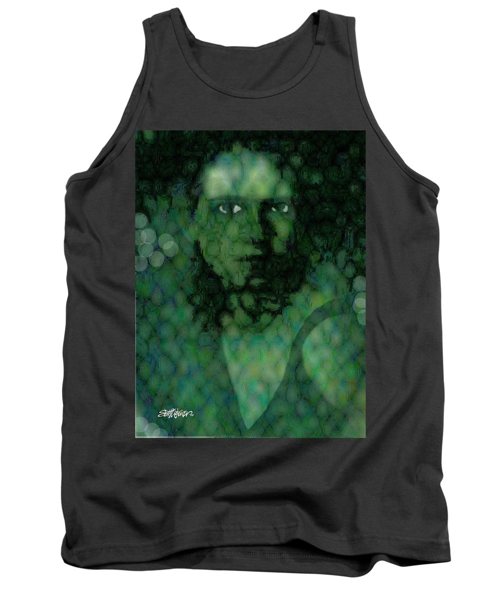 Bizarre Tank Top featuring the digital art The Snake Lady by Seth Weaver