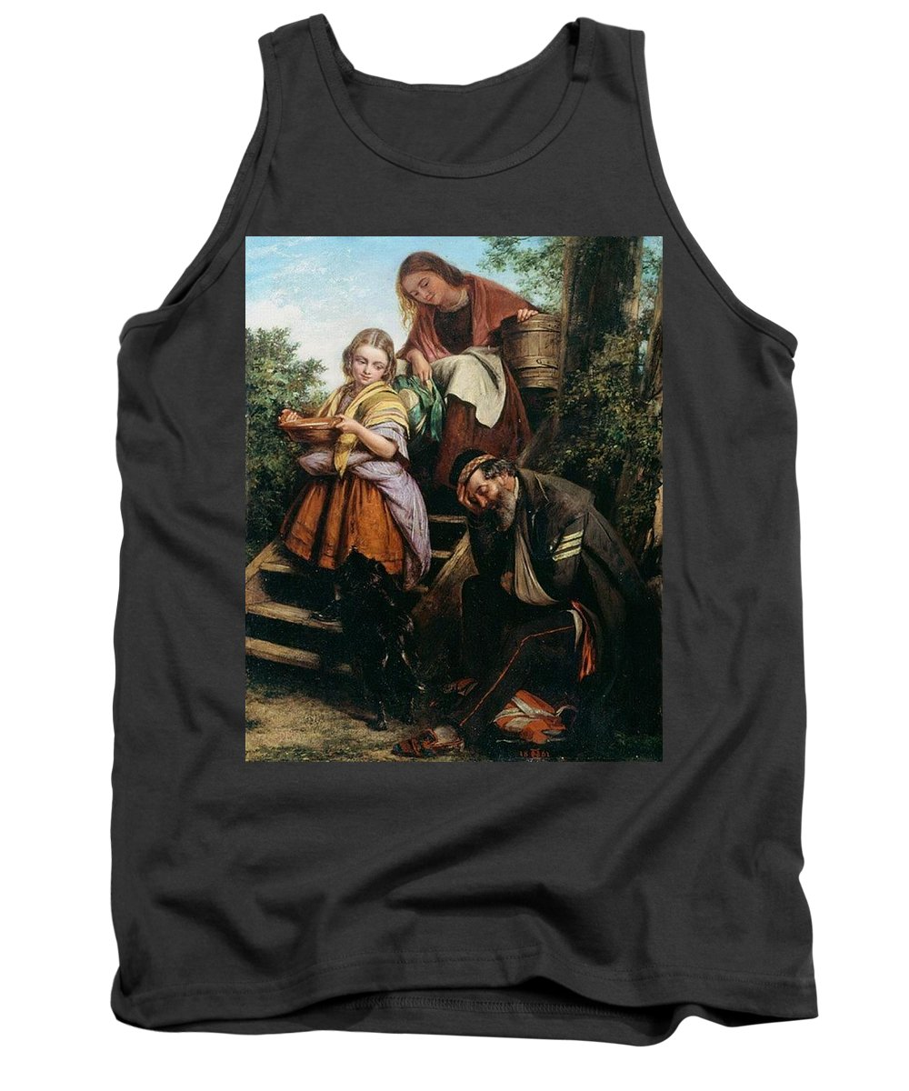 People Tank Top featuring the digital art The Soldiers Return Henry Nelson Oneil by Eloisa Mannion