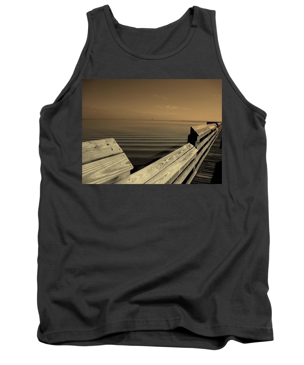 Pier Tank Top featuring the photograph The Spot by Susanne Van Hulst