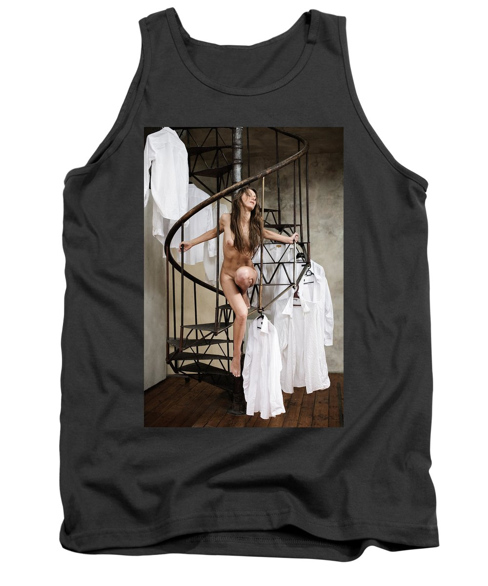 Sensual Tank Top featuring the photograph The Stairs by Olivier De Rycke