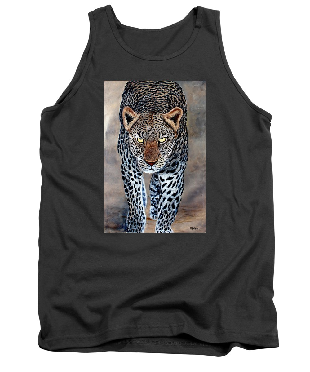 True African Art Tank Top featuring the painting The Staredown by Wycliffe Ndwiga