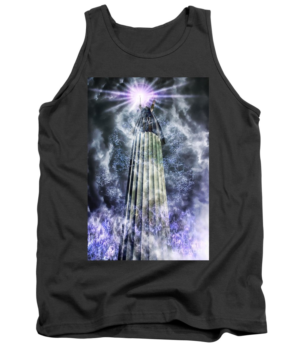 Clouds Tank Top featuring the digital art The Stormbringer by John Edwards