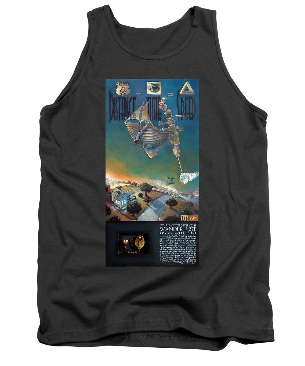 Boat Tank Top featuring the mixed media The Strife Of Wanderlust In A Dream by Patrick Anthony Pierson