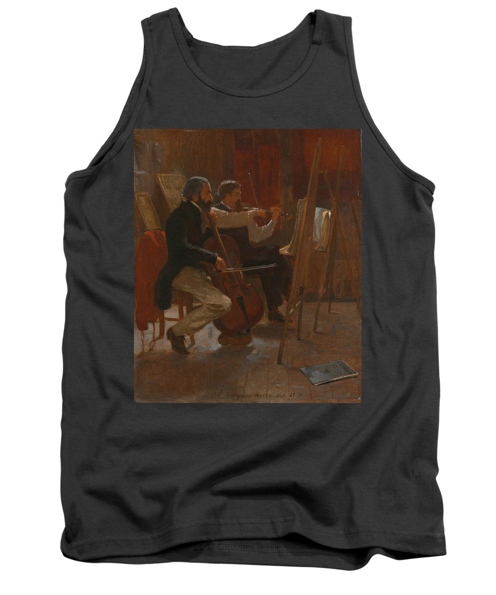 19th Century Art Tank Top featuring the painting The Studio by Winslow Homer