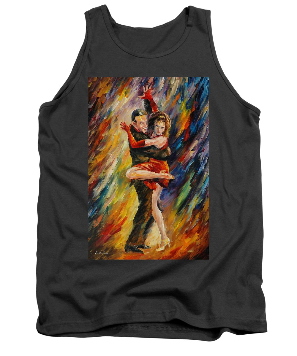 Dance Tank Top featuring the painting The Sublime Tango by Leonid Afremov