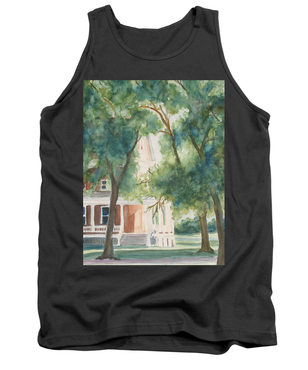House Tank Top featuring the painting The Sunlit Porch by Jenny Armitage
