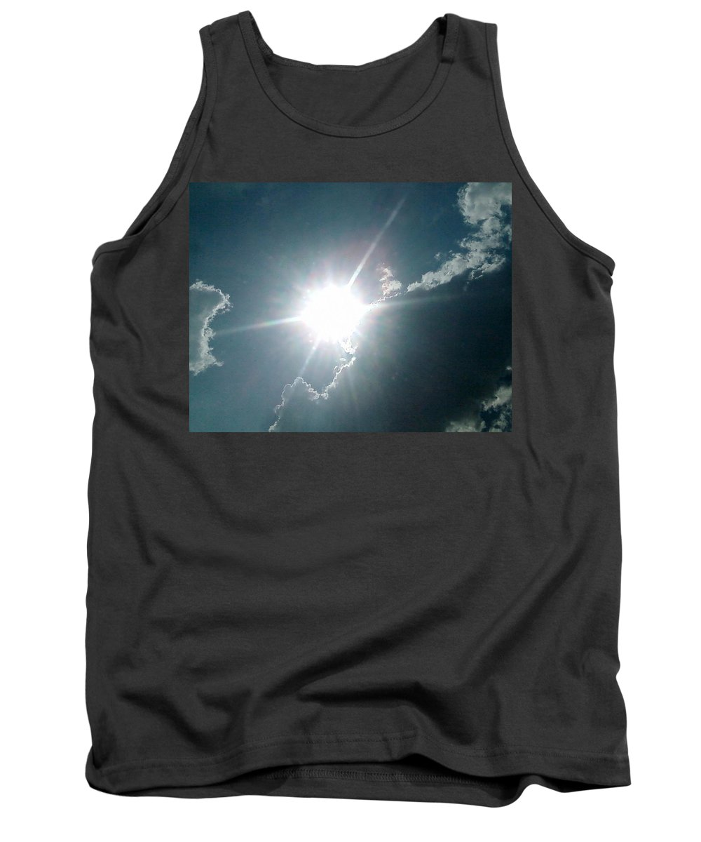 Sun Tank Top featuring the photograph The Sun's Beams by Cindy New