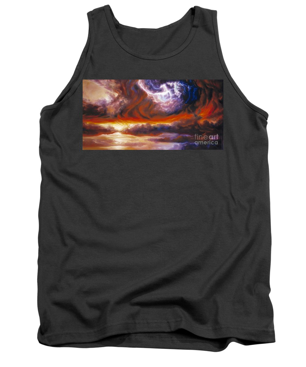 Tempest Tank Top featuring the painting The Tempest by James Christopher Hill