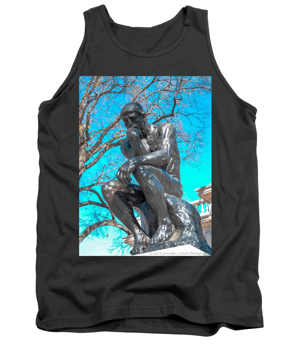 Casting Tank Top featuring the photograph The Thinker by Jennifer Wick