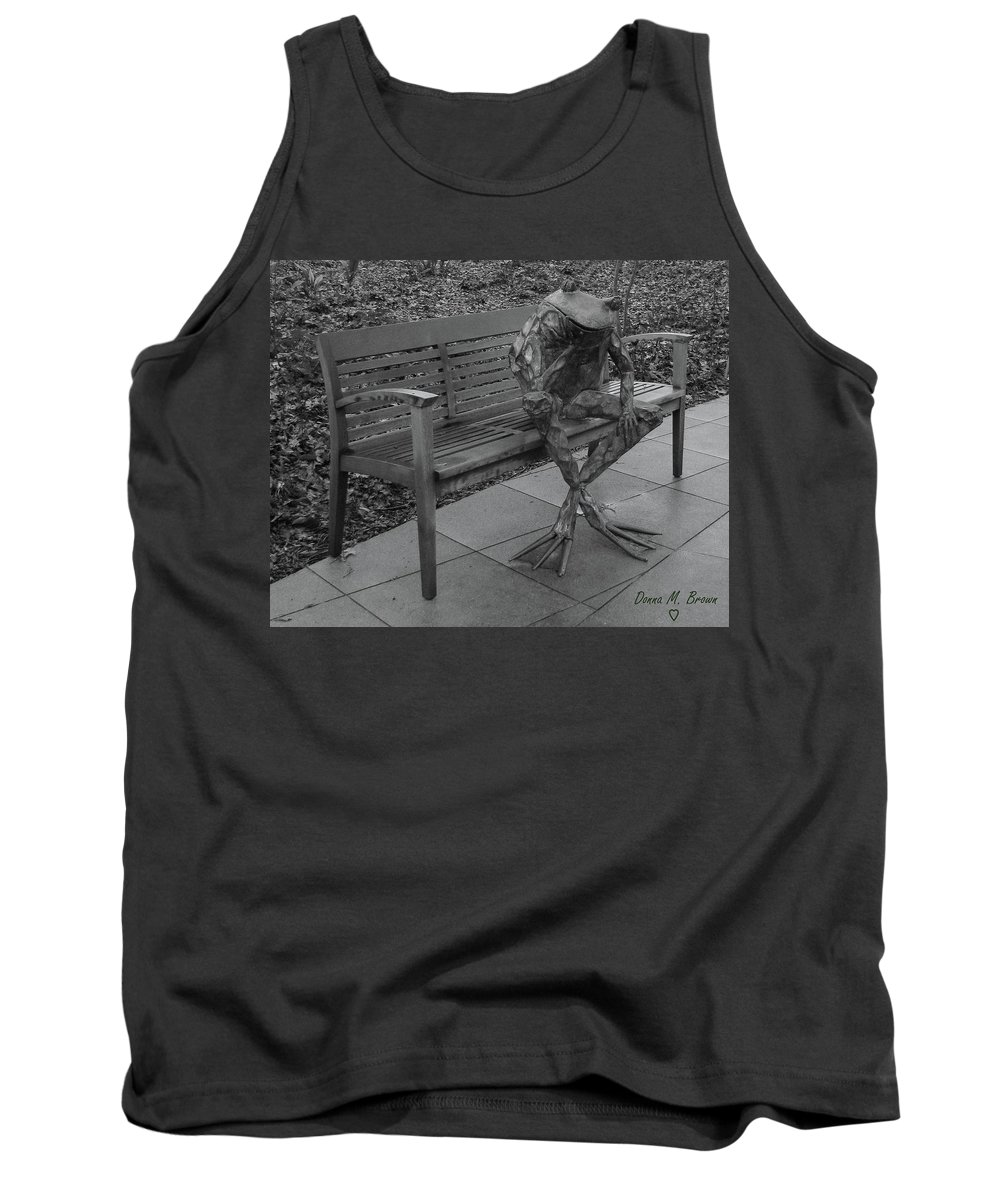 Frog Tank Top featuring the photograph The Thinking Frog by Donna Brown