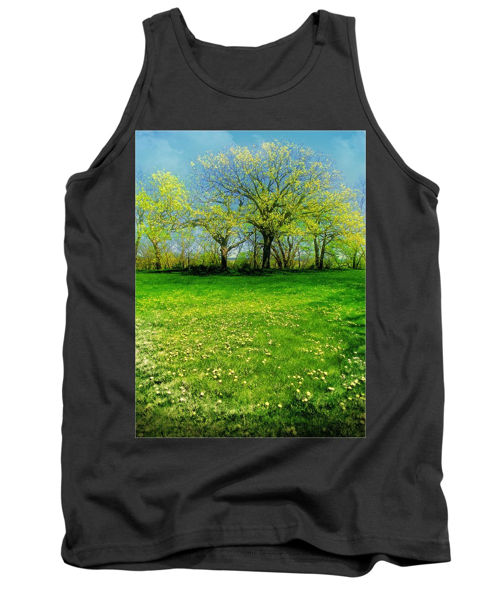 Landscape Tank Top featuring the photograph The Umbrella Tree by John Anderson