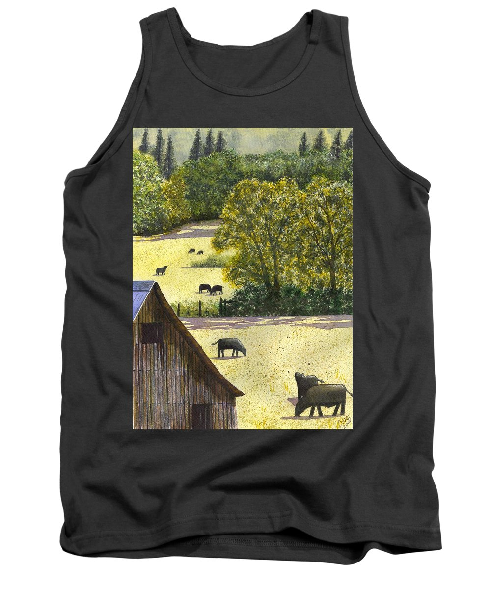 Landscape Tank Top featuring the painting The View From My Back Deck by Catherine G McElroy