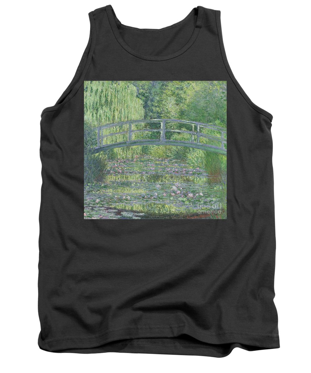 The Tank Top featuring the painting The Waterlily Pond by Claude Monet