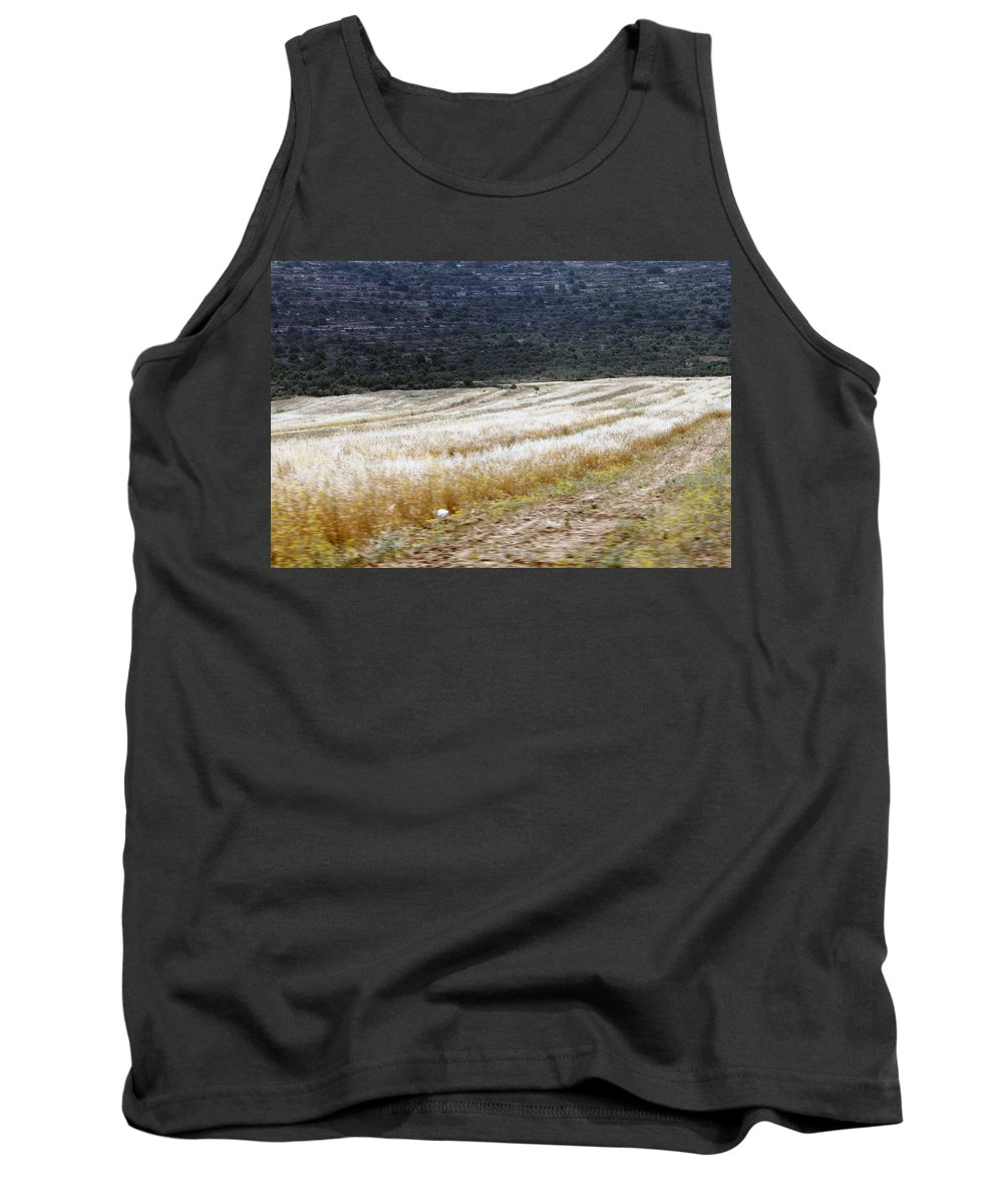 Landscape Tank Top featuring the photograph The Way To Nablus City by Munir Alawi