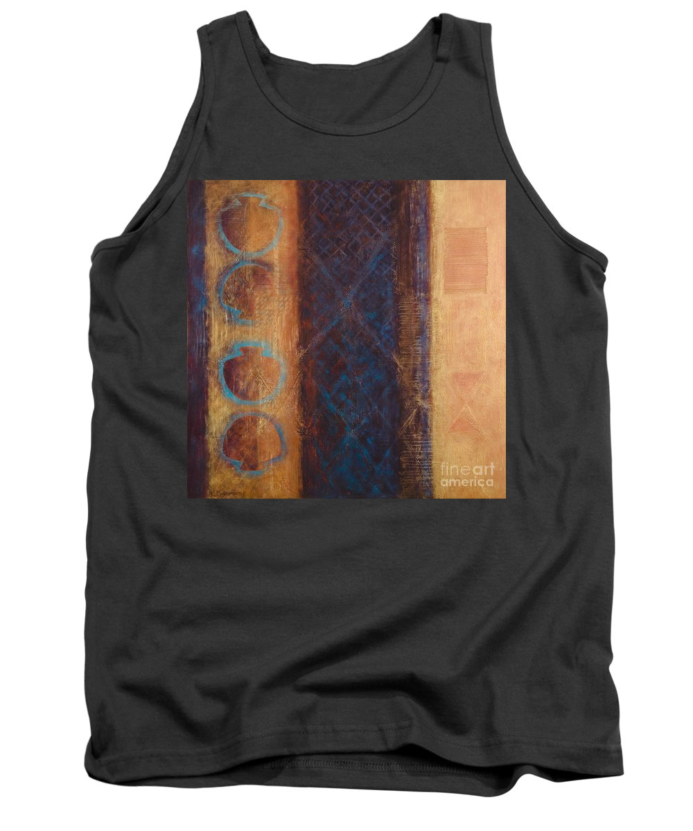 Abstract Tank Top featuring the painting The X Factor Alchemy Of Consciousness by Kerryn Madsen-Pietsch