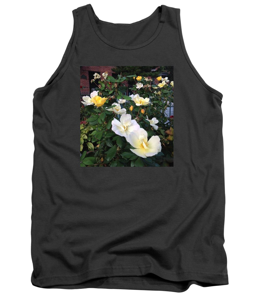 Yellow Roses Tank Top featuring the photograph The Yellow Roses Of Fulton Street by Carolyn Quinn