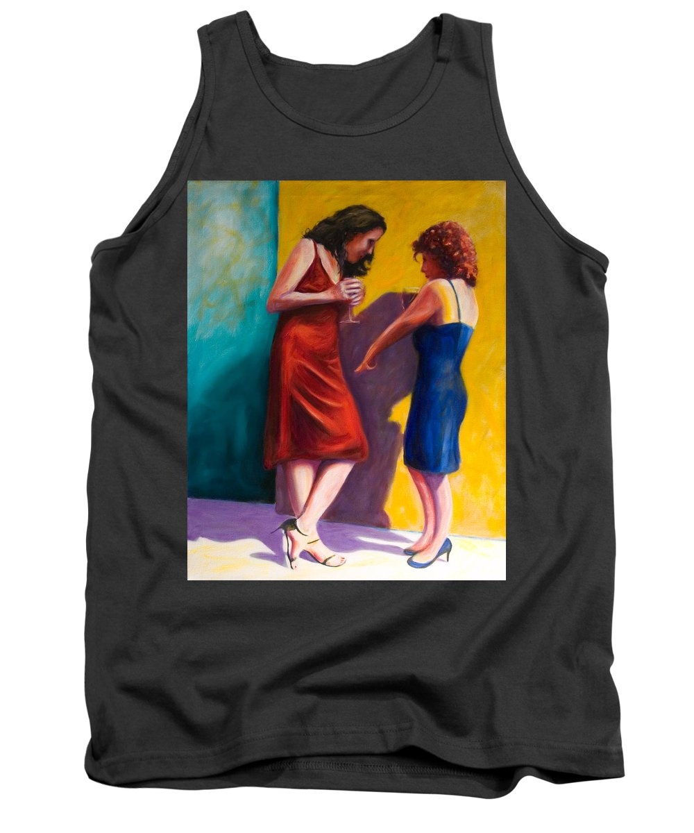Figurative Tank Top featuring the painting There by Shannon Grissom