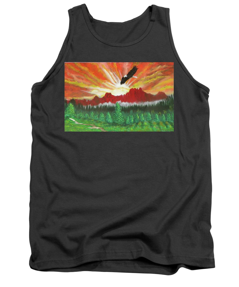 Acrylic Tank Top featuring the painting They That Wait Upon The Lord  Isa 40 31 by Laurie Kidd