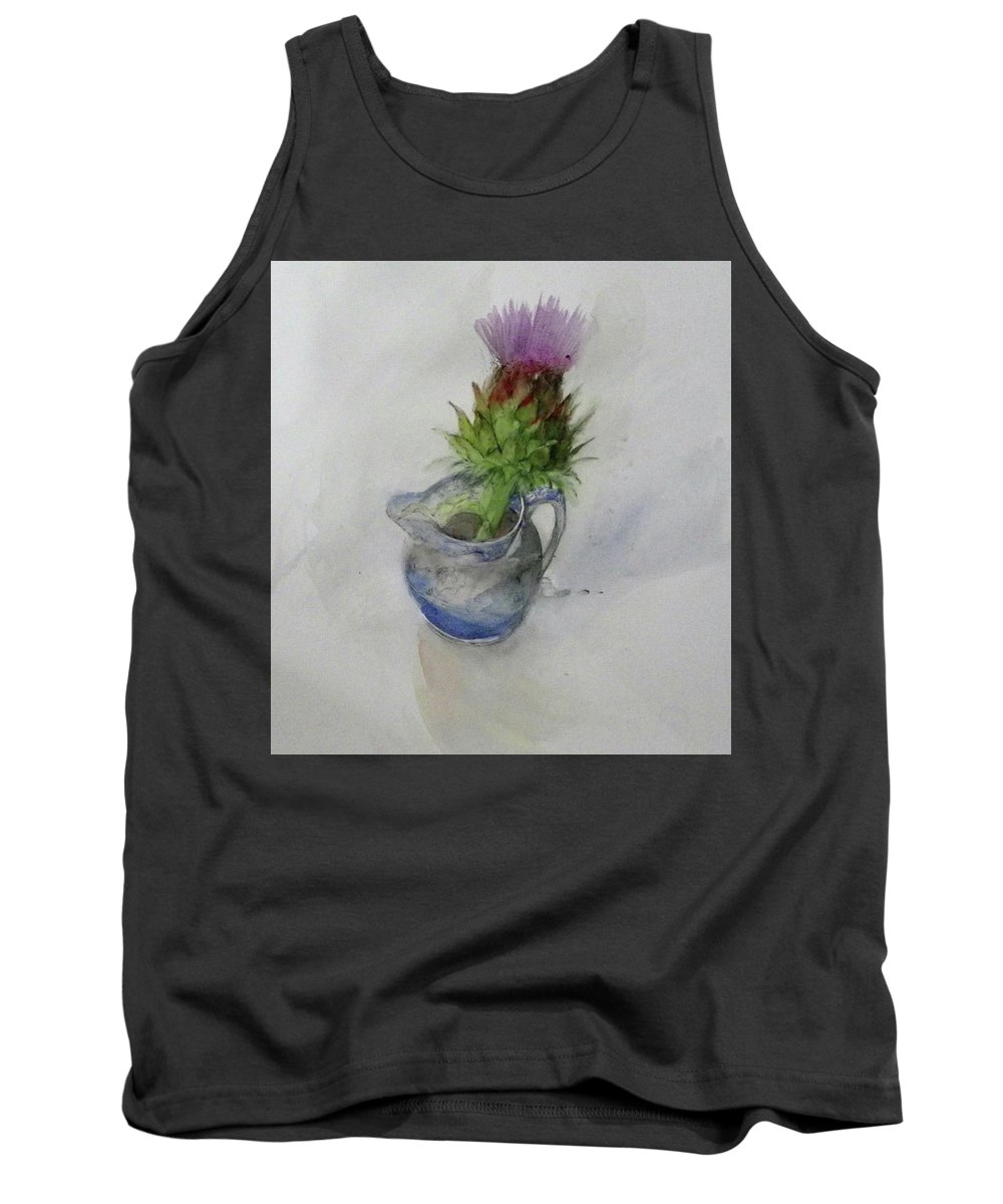 Tank Top featuring the painting Thistle by Kate Bradley
