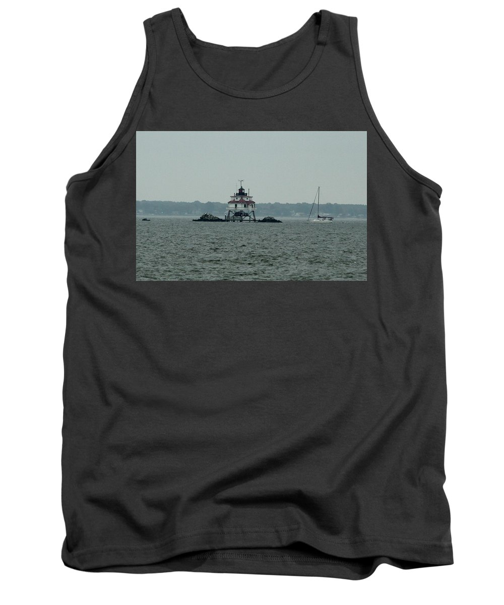 Lighthouse Tank Top featuring the photograph Thomas Point Shoal Lighthouse by Christiane Schulze Art And Photography