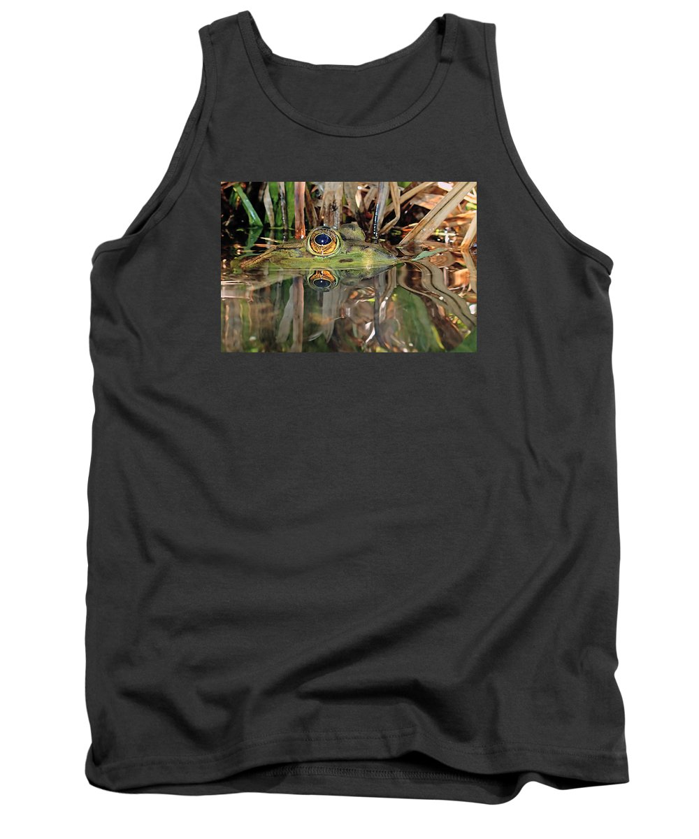 Frog Tank Top featuring the photograph Those Eyes Frog Eyes by Asbed Iskedjian
