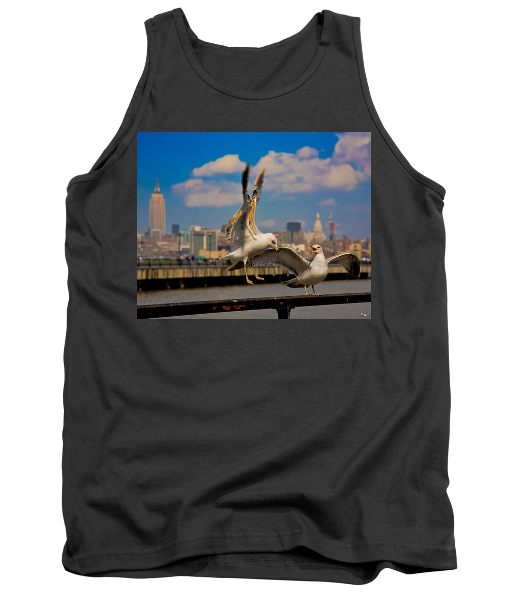 Gull Tank Top featuring the photograph Those Jersey Gulls by Chris Lord