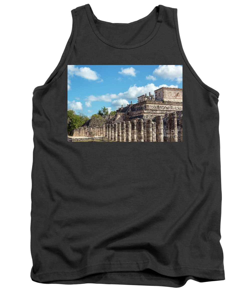 Chichen Itza Tank Top featuring the photograph Thousand Columns And Temple Of The Warriors by Jess Kraft