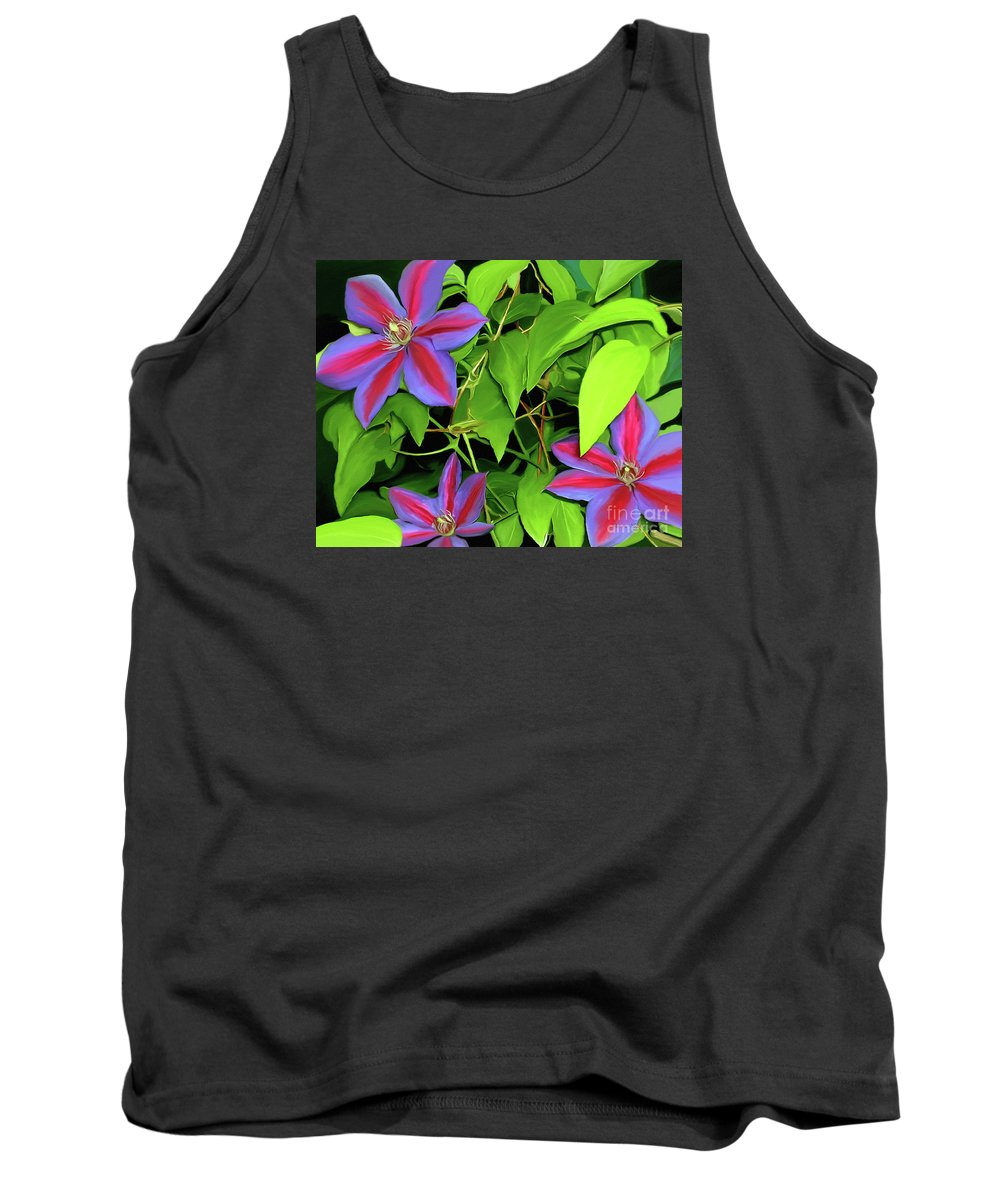 Mixed Media Art Tank Top featuring the painting Three Jacks by Patricia Griffin Brett