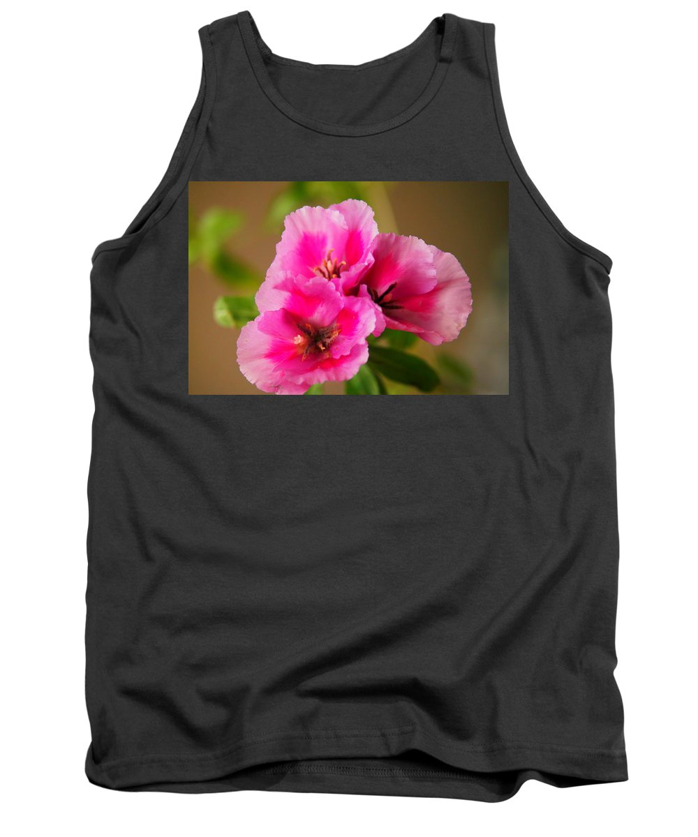 Flowers Tank Top featuring the photograph Three Little Beauties by Jeff Swan