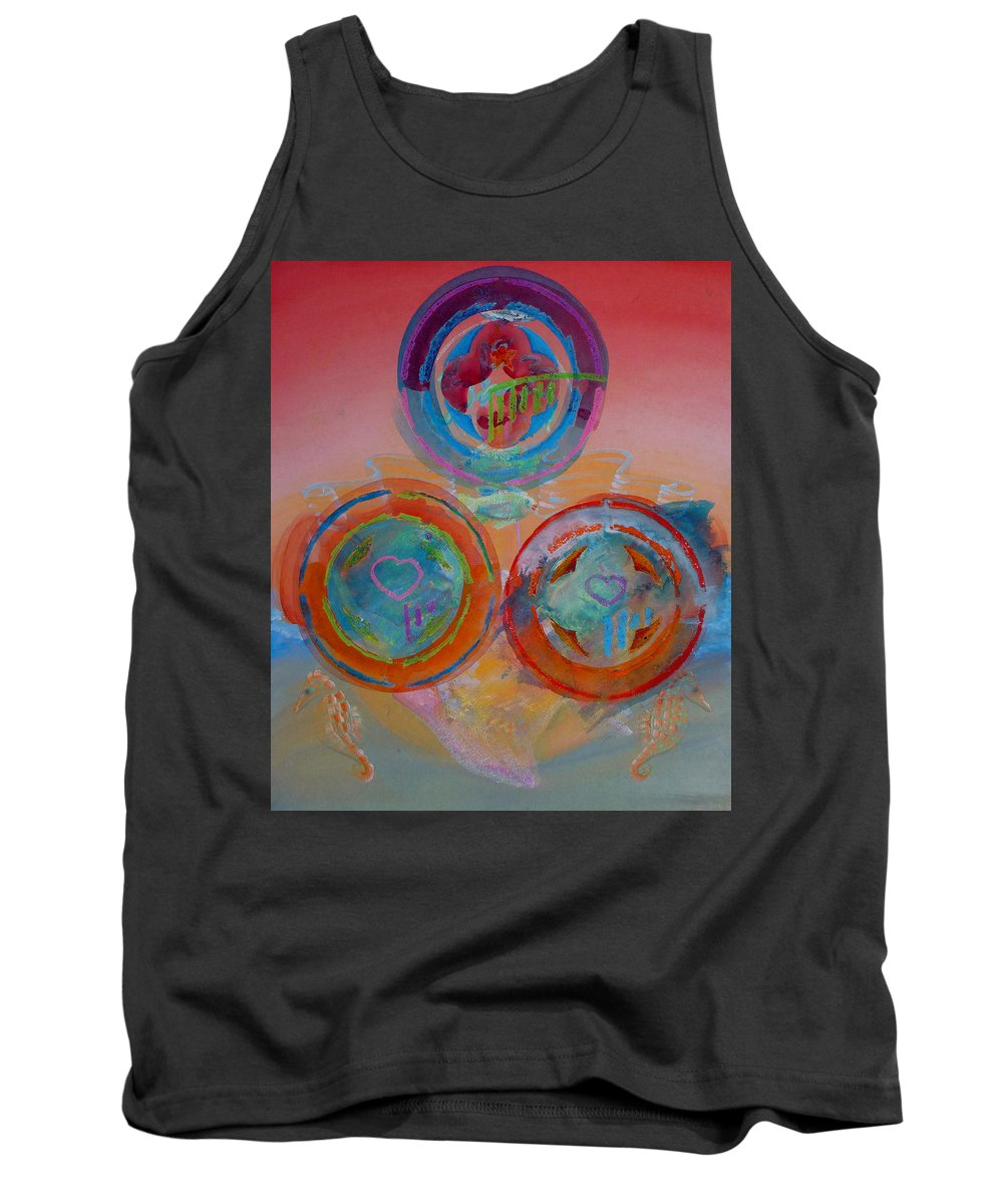 Logo Tank Top featuring the painting Three On Marine by Charles Stuart