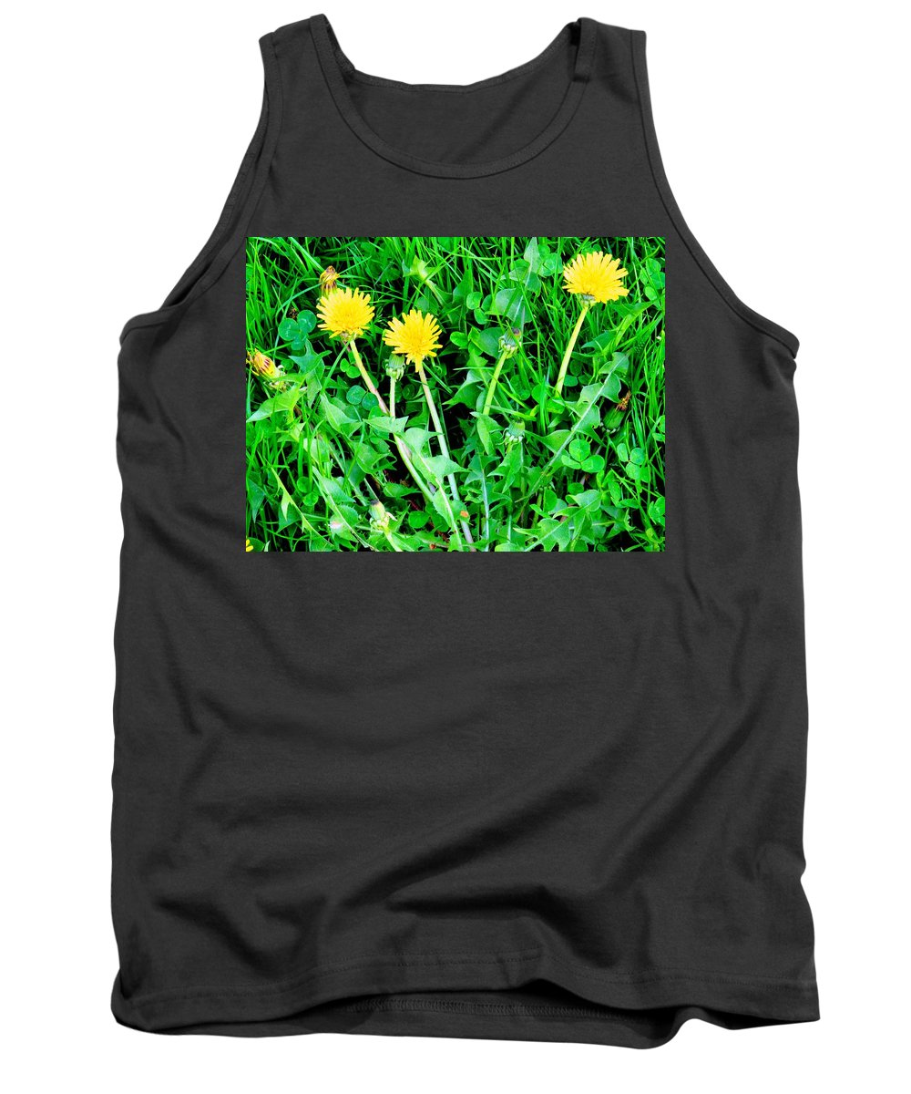 Dandylions Tank Top featuring the photograph Three Tenders by Ian MacDonald