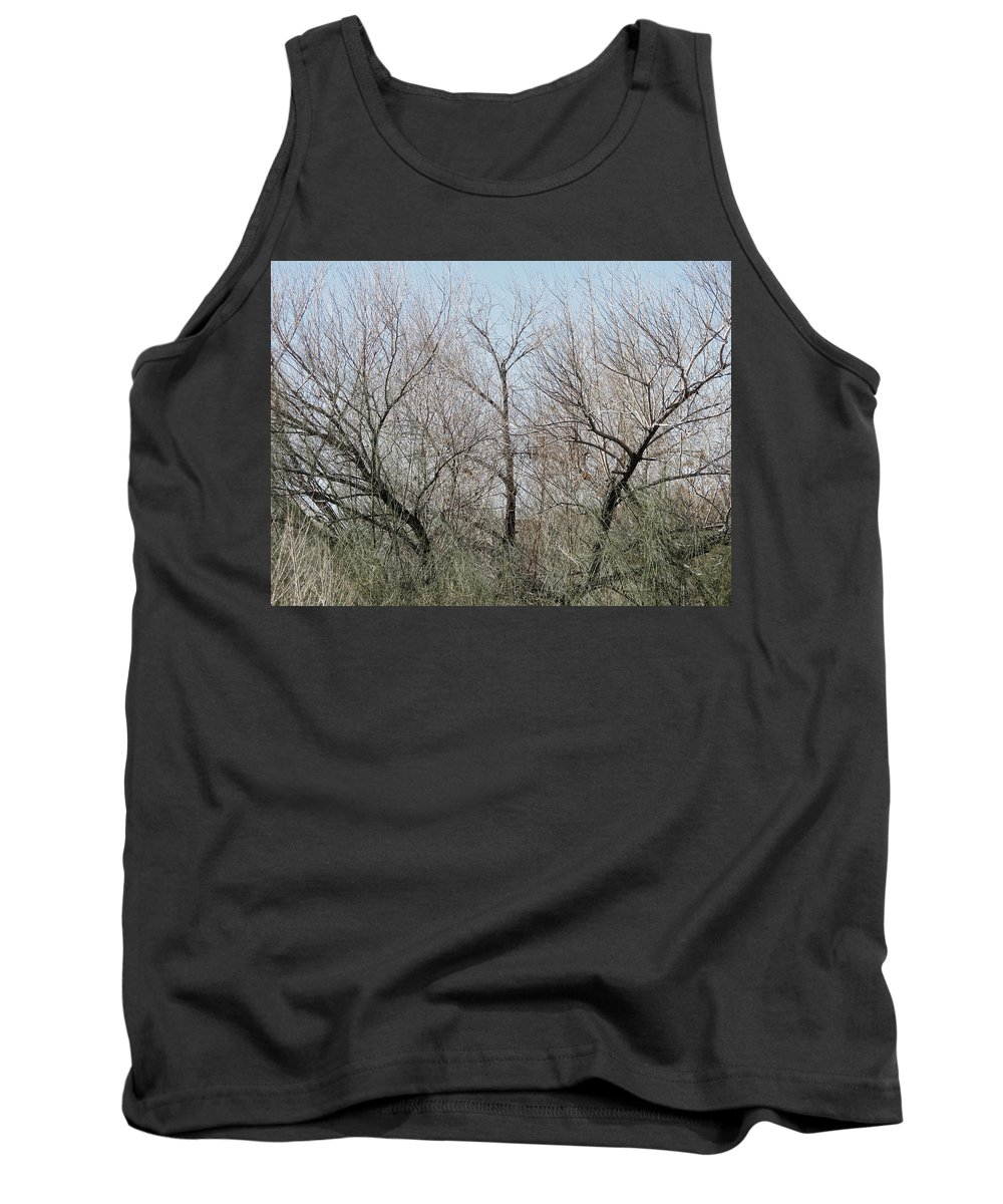 Bare Tank Top featuring the photograph Three Trees by Laurel Powell