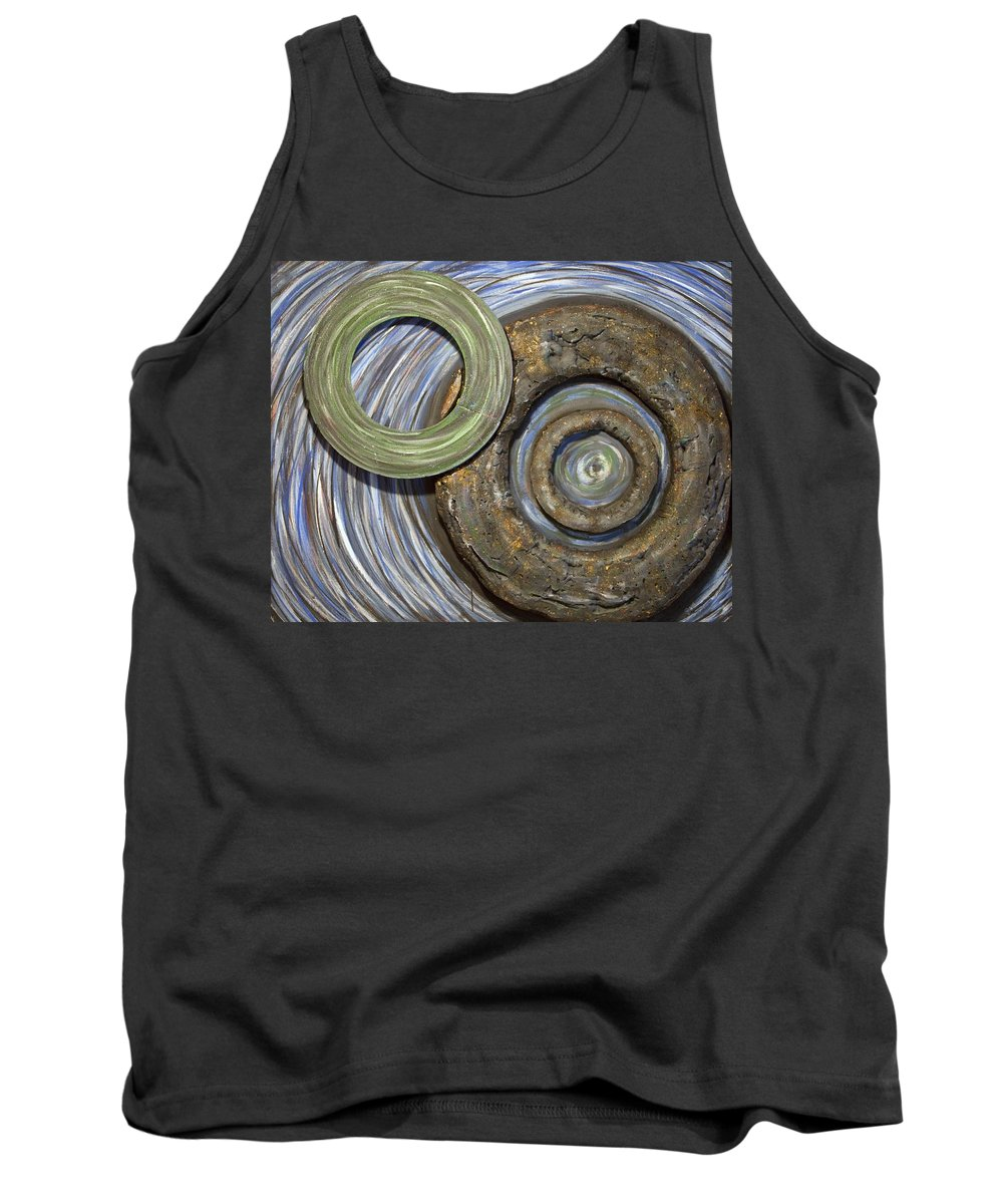 Circles Tank Top featuring the painting Threes A Crowd by Jacqueline Athmann