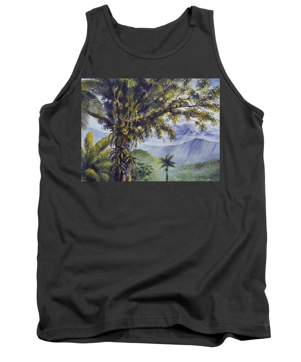 Chris Cox Tank Top featuring the painting Through The Canopy by Christopher Cox