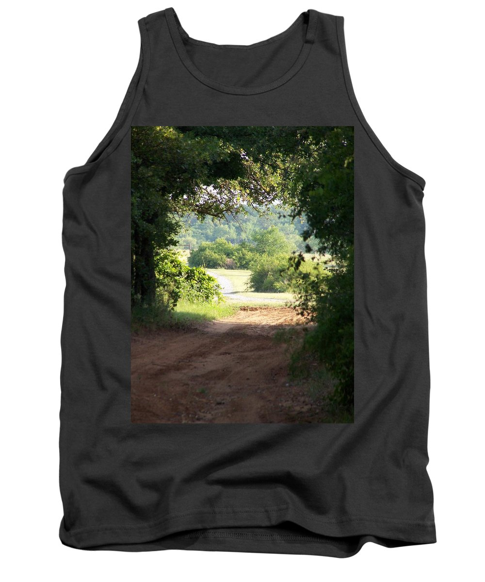 Woods Tank Top featuring the photograph Through The Woods by Gale Cochran-Smith
