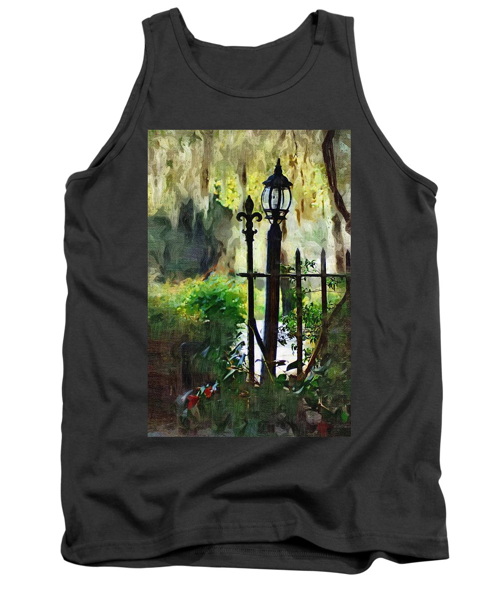 Gate Tank Top featuring the digital art Thru The Gate by Donna Bentley