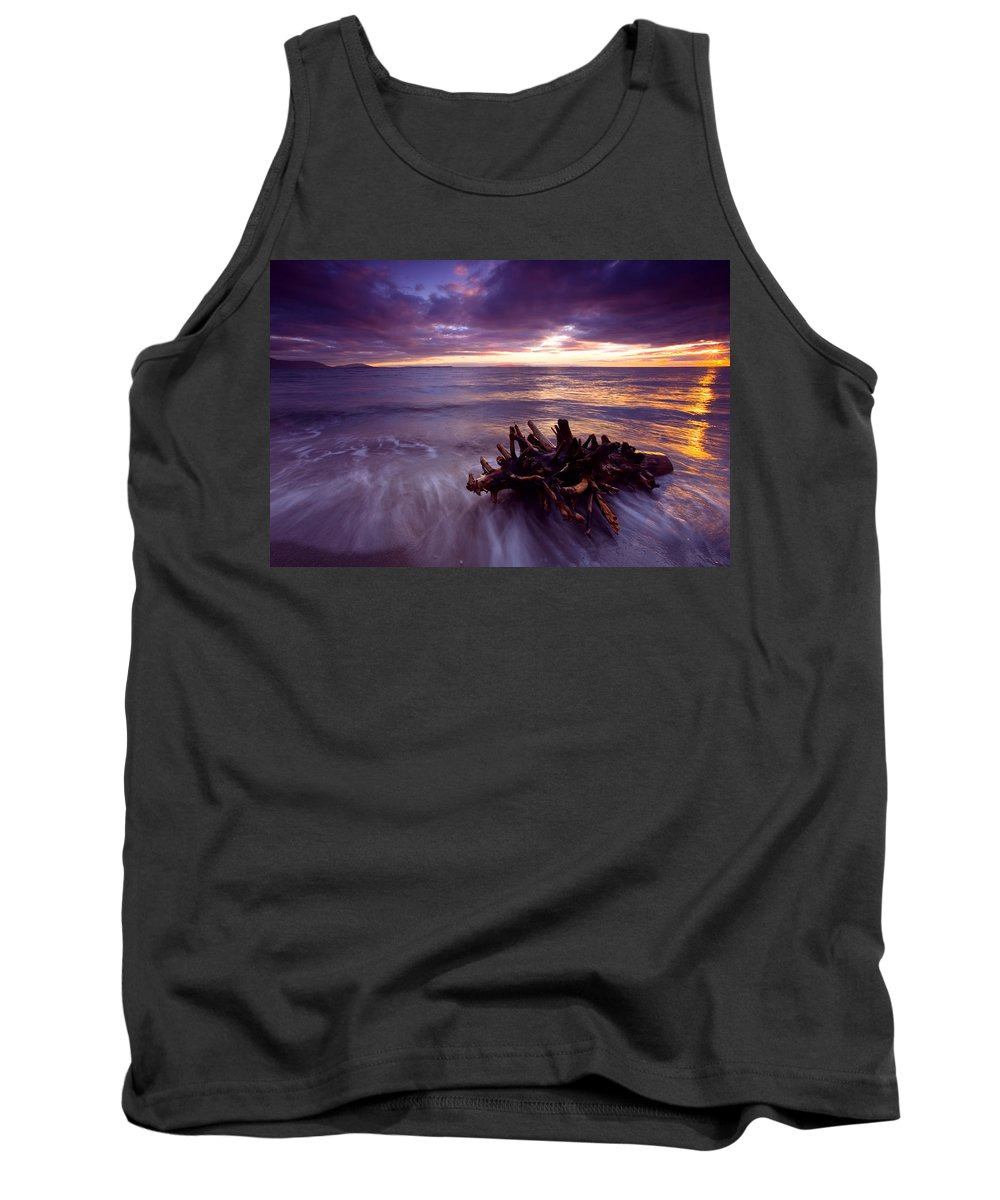Sunset Tank Top featuring the photograph Tide Driven by Mike Dawson