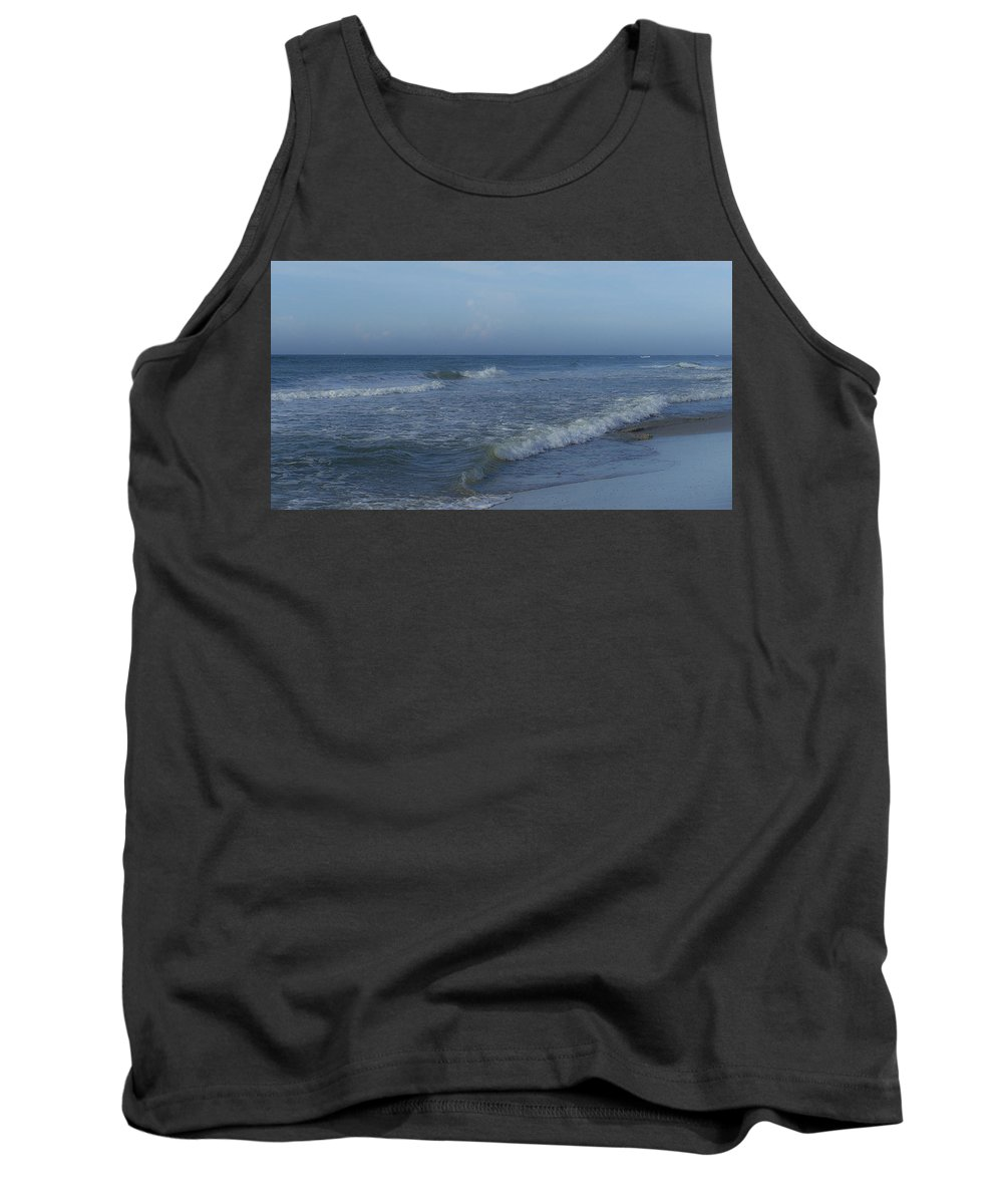 Tide Tank Top featuring the photograph Tide Rolling In Ocean Isle Beach North Carolina by Teresa Mucha