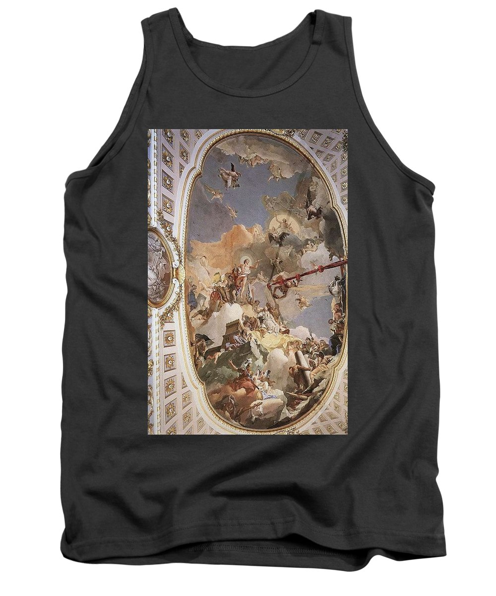 Old Tank Top featuring the digital art Tiepolo Palacio Real The Apotheosis Of The Spanish Monarchy Giovanni Battista Tiepolo by Eloisa Mannion